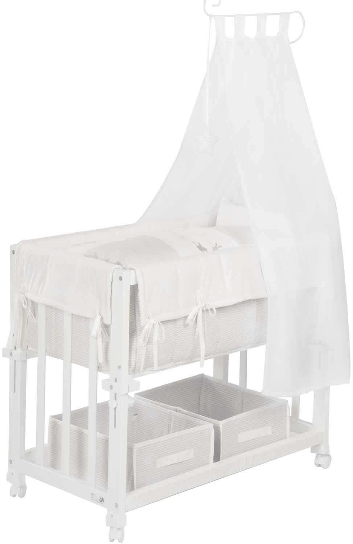 roba stubenbett 4in1 stubenwiege stubenwagen beistellbett bank holz ebay. Black Bedroom Furniture Sets. Home Design Ideas