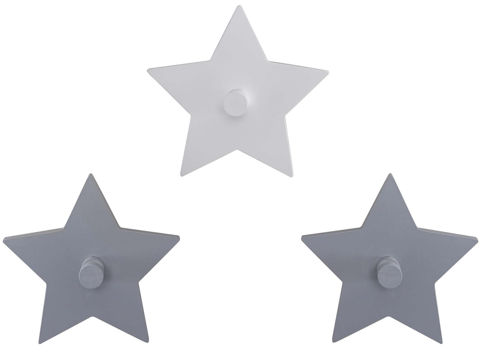 Gewaltig Garderobenhaken Kinderzimmer Sammlung Von Roba Wandhaken Sterne 3-tlg Garderobe Little Stars