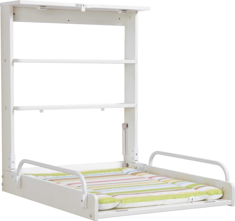 roba wandwickelregal wickelregal inkl wickelauflage klappbar holz ebay. Black Bedroom Furniture Sets. Home Design Ideas