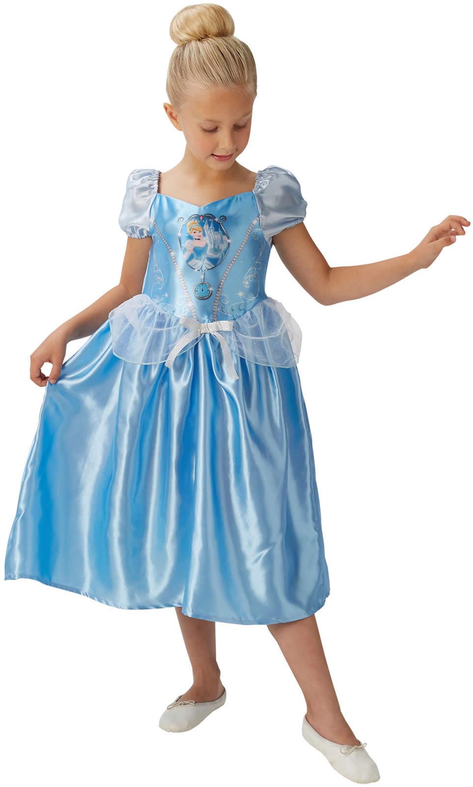 Disney Cinderella Prinzessin Kinder Karneval Fasching Kostüm 104-128 ...