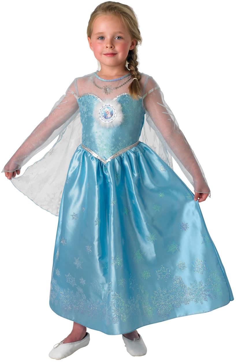 Disney Frozen Die Eiskönigin Kinder Karneval Fasching Kostüm 104-128 ...