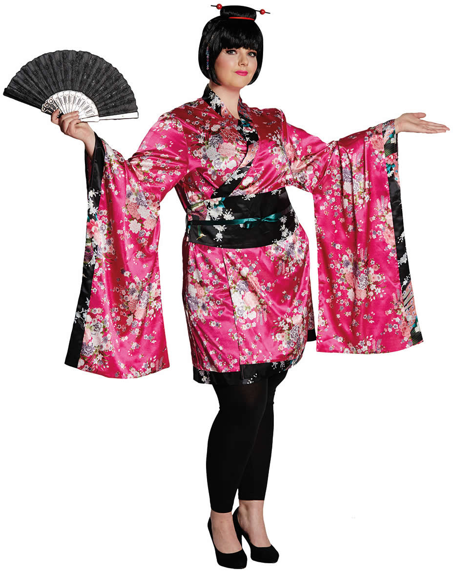 Geisha Japanerin Kimono Karneval Fasching Kostüm 34-52