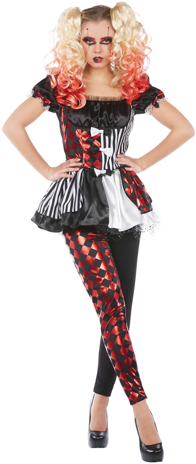 adebf203f07c0 Details zu Harlekin Clown Karneval Fasching Kostüm 34-42