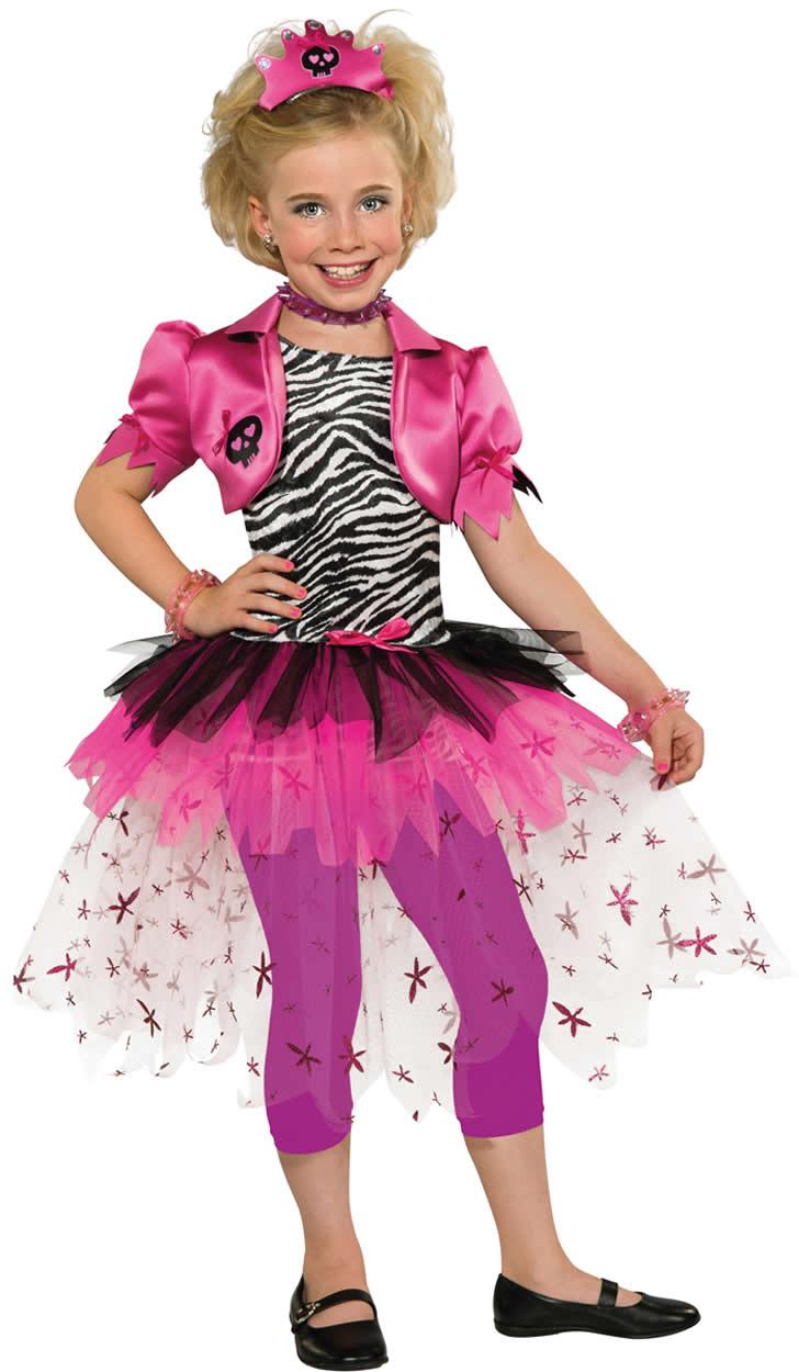 Pink Punk Princess Girl Punkgirl Punker Pop Star Karneval Kostüm 116 ...