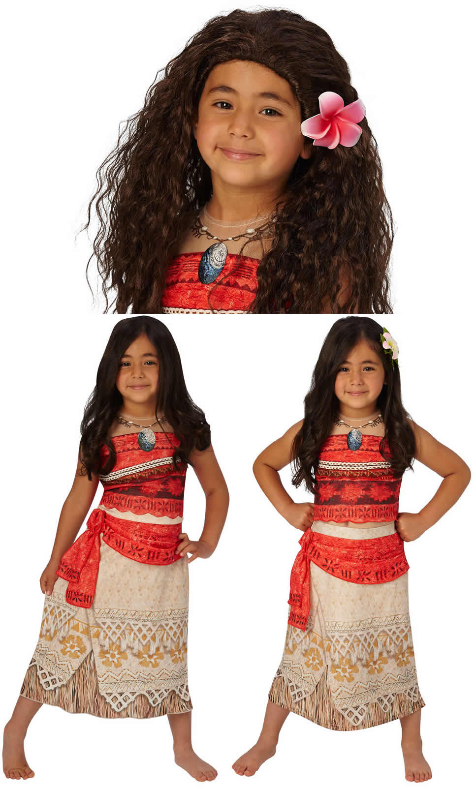 Vaiana Disney Häuptlingstochter Prinzessin Kinder Karneval Kostüm | eBay